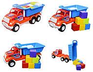 Машина-самосвал «Орел Б», с кубиками, 07-713-5, купить