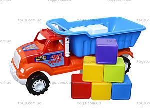 Машина-самосвал «Орел Б», с кубиками, 07-713-5, цена