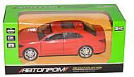Машина седан красная металлическая, 7797, фото