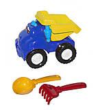 """Машина """"Смайл самосвал"""" №1 синяя + грабельки и лопатка Colorplast (0121), 0121, купить"""
