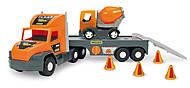 Машина «Super Tech Truck» с бетономешалкой, 36750, фото