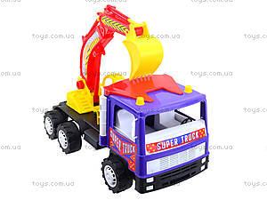Игрушечный экскаватор «Супер Трак», 14-002-1, детские игрушки