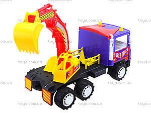 Игрушечный экскаватор «Супер Трак», 14-002-1, магазин игрушек