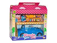 Машина синяя с куклой, 2014-2, фото