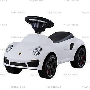 Машина-толокар Porsche лицензия, белая, U-057W
