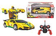 Машина-трансформер на радиоуправлении «Автоботи» желтая, 689-291