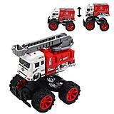 """Машина-трансформер """"Пожарная техника"""" для мальчика, JW567-025, фото"""