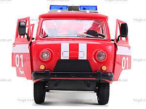 Игрушечная машина УАЗ «Пожарная служба», 9518-A, купить