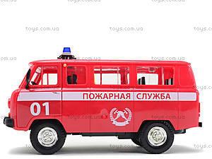 Игрушечная машина УАЗ «Пожарная служба», 9518-A, фото