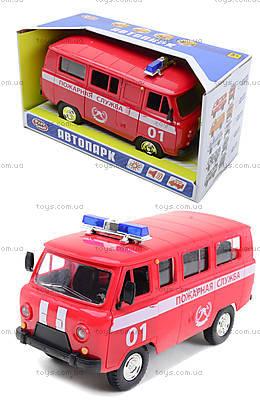 Игрушечная машина УАЗ «Пожарная служба», 9518-A