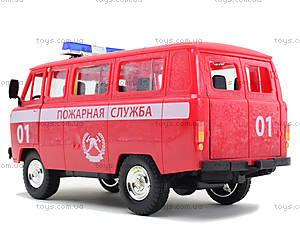 Игрушечная машина УАЗ «Пожарная служба», 9518-A, отзывы