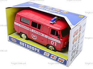 Игрушечная машина УАЗ «Пожарная служба», 9518-A, цена