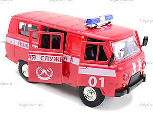 Игрушечная машина УАЗ «Пожарная служба», 9518-A, игрушки