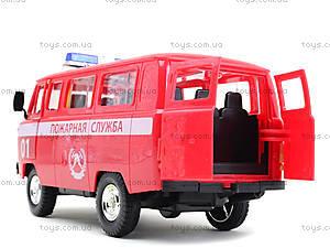 Игрушечная машина УАЗ «Пожарная служба», 9518-A, детские игрушки