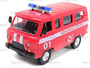 Игрушечная машина УАЗ «Пожарная служба», 9518-A, магазин игрушек