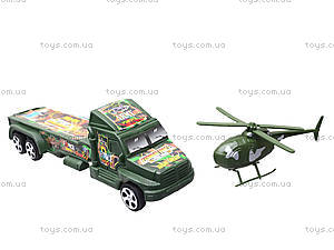 Игрушечная военная машина с вертолетом, 1658A, игрушки