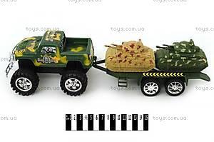 Машина «Военный джип», с прицепом, 6688-В