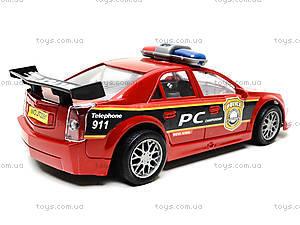 Инерционная полицейская машинка красного цвета, 2261, купить