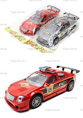 Инерционная полицейская машинка красного цвета, 2261