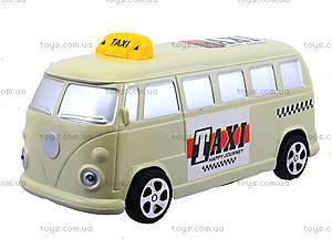 Инерционная машина со световым эффектом «Ретро-такси», Q931-1, отзывы