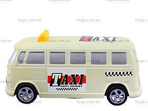 Инерционная машина со световым эффектом «Ретро-такси», Q931-1, игрушки