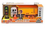 """Машинка """"Builder Construction: Самосвал"""" + музыкальный светофор, 6633, купить"""