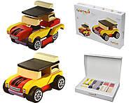Машинка деревянная мини «Кабриолет», 12060, купить