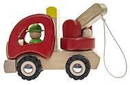 Машинка деревянная goki Эвакуатор красный, 55965, фото