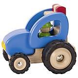 Машинка деревянная goki Трактор синий, 55928G, отзывы