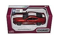 Машинка Ford Mustang GT (красная, матовая), KT5386FW, фото