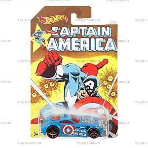 Машинка Hot Wheels серии «Капитан Америка», DJK75, фото