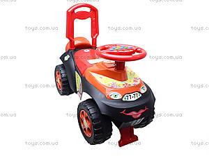 Детская машина-каталка «Автошка» с музыкальным рулем, 013117R,U03, купить