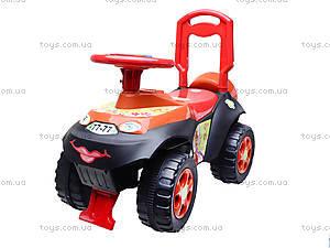Детская машина-каталка «Автошка» с музыкальным рулем, 013117R,U03