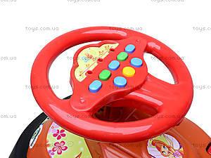 Детская машина-каталка «Автошка» с музыкальным рулем, 013117R,U03, игрушки