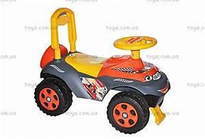 Машинка-каталка «Автошка», желто-оранжевая, 01311701
