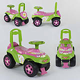 Машинка-каталка «Автошка» розово-салатовая, 014108, фото