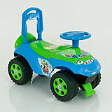 Машинка-каталка «Автошка» сине-зеленая, 0141/06, оптом