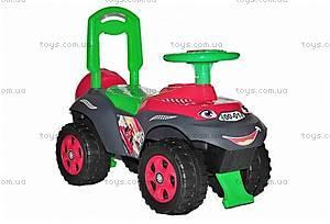 Машинка-каталка «Автошка», зелено-красная, 013117U12
