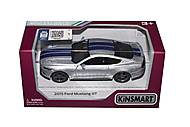 Машинка KINSMART «Ford Mustang GT» серебристая, KT5386FW