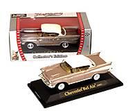 Машинка коллекционная Chevrolet Bel Air кремовая, 94201, фото