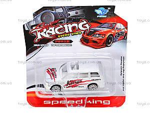Машинка металлическая Racing, JP415, отзывы