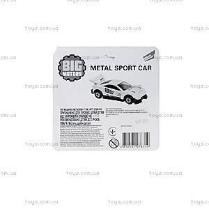Машинка металлическая, спортивная, 27669-632, фото