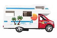 Машинка металлическая goki «Дом на колесах» красная, 12211G-4, фото