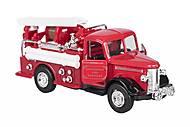 Машинка металлическая goki «Пожарная ретро-машина» с бочкой, 12057G-2