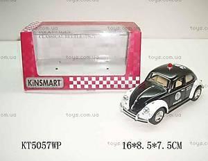 Машинка металлическая «Полиция» Volkswagen Classical Beetle , KT50 WP