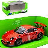 """Машинка металлическая """"Porsche 911 GT3"""" красная, 24080W, отзывы"""