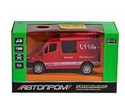 Машинка «Пожарная» Автопром, 7792, фото