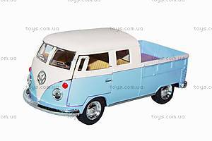 Машинка Volkswagen Bus Double-Cab Pickup (голубой), KT5387WY