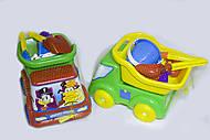 Машинка «Вольво-утята» с песочными игрушками, Л-013-12, фото