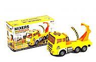 Машинка игрушечная «Бетономешалка» желтая, LX376/A, фото